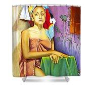 Gaby Shower Curtain by Marlene Book