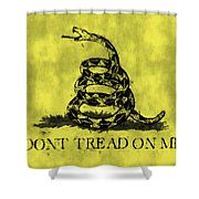 Gadsden Flag - Dont Tread On Me Shower Curtain by World Art Prints And Designs