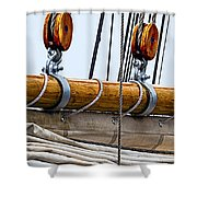 Gaff And Mainsail Shower Curtain by Marty Saccone