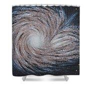 Galactic Amazing Dance Shower Curtain by Georgeta  Blanaru