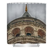 Galata Tower Istanbul Shower Curtain by Antony McAulay