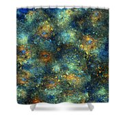 Galaxies Shower Curtain by Betsy C  Knapp