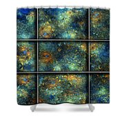 Galaxies II Shower Curtain by Betsy C  Knapp