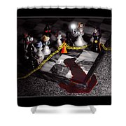 Game - Chess - It's Only A Game Shower Curtain by Mike Savad