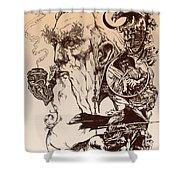 gandalf- Tolkien appreciation Shower Curtain by Derrick Higgins