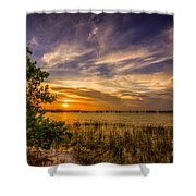 Gandy Lagoon Shower Curtain by Marvin Spates