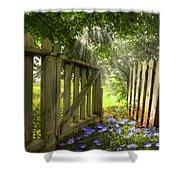Garden Of Eden Shower Curtain by Debra and Dave Vanderlaan