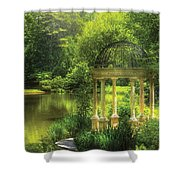 Garden - The Temple of Love Shower Curtain by Mike Savad