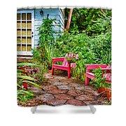 Garden Treasures at Aunt Eden's by Diana Sainz Shower Curtain by Diana Sainz