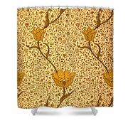 Garden Tulip Wallpaper Design Shower Curtain by William Morris