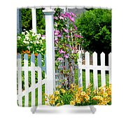 Garden With Picket Fence Shower Curtain by Elena Elisseeva