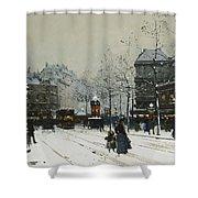 Gare Du Nord Paris Shower Curtain by Eugene Galien-Laloue