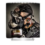 Gas Gas Gas Shower Curtain by David Morefield