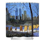 Gates of New York Shower Curtain by Marlene Book