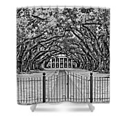 Gateway To The Old South Bw Shower Curtain by Steve Harrington