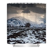 Gathering Winter Storm - Utah Valley Shower Curtain by Gary Whitton