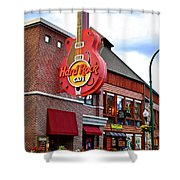 Gatlinburg Hard Rock Cafe Shower Curtain by Frozen in Time Fine Art Photography