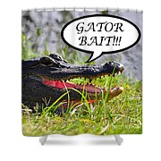 Gator Bait Greeting Card Shower Curtain by Al Powell Photography USA