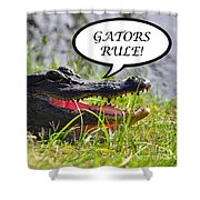 Gators Rule Greeting Card Shower Curtain by Al Powell Photography USA