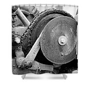Gears Nuts And Bolts Shower Curtain by Jackie Farnsworth