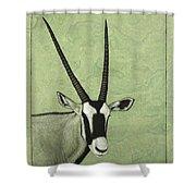 Gemsbok Shower Curtain by James W Johnson