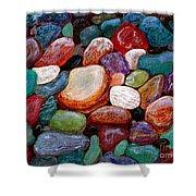 Gemstones Shower Curtain by Barbara Griffin