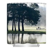 Genegantslet Golf Club Shower Curtain by Christina Rollo