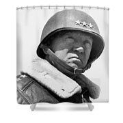 General George Patton Shower Curtain by War Is Hell Store