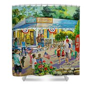 General Store After July 4th Parade Shower Curtain by Jan Mecklenburg