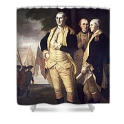 GENERALS AT YORKTOWN, 1781 Shower Curtain by Granger
