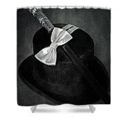 Gentleman Shower Curtain by Joana Kruse