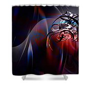 Geometric 6 Shower Curtain by Mark Ashkenazi