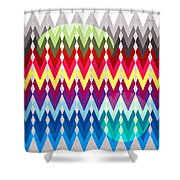 Geometric Colors  Shower Curtain by Mark Ashkenazi
