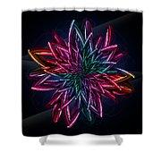 Geometric Flower  Shower Curtain by Mark Ashkenazi