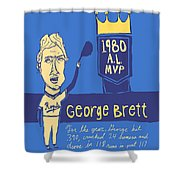 George Brett Kc Royals Shower Curtain by Jay Perkins