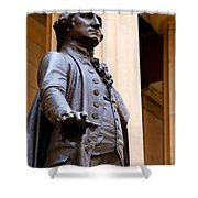George Washington Shower Curtain by Brian Jannsen
