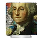 George Washington Shower Curtain by Corporate Art Task Force
