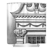 Georgian Splendor Shower Curtain by Adam Zebediah Joseph