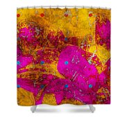 Gerberie - Fst01bca Shower Curtain by Variance Collections