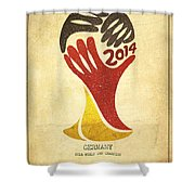 Germany World Cup Champion Shower Curtain by Aged Pixel