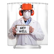 Get Well Shower Curtain by Edward Fielding