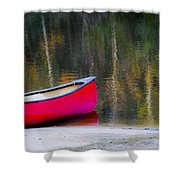 Getaway Canoe Shower Curtain by Carolyn Marshall