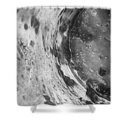 Getaway Jar b/w Shower Curtain by Martin Howard