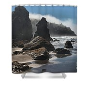 Giants Of Trinidad Shower Curtain by Adam Jewell