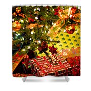 Gifts Under Christmas Tree Shower Curtain by Elena Elisseeva