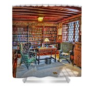Gillette Castle Library Shower Curtain by Susan Candelario
