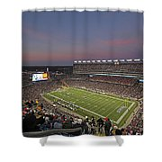 Gillette Stadium In Foxboro  Shower Curtain by Juergen Roth