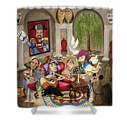 Gina's Journey Shower Curtain by Anthony Falbo