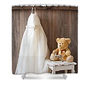 Girls Dress Shower Curtain by Amanda Elwell