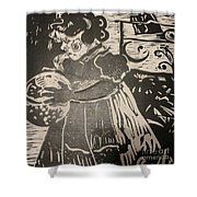 Girl's Play Shower Curtain by PainterArtist FINs husband Maestro